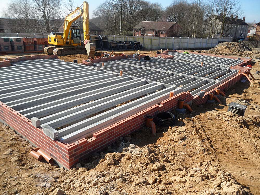 Floor slabs b gallagher construction for Block and beam foundation vs slab